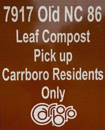 Leaf Compost Sign